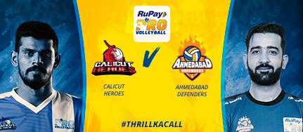Calicut Heroes Ahmedabad Defenders Volleyball